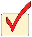 Public domain picture of a checkmark in a checkbox