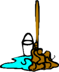 public domain image of a mop and bucket from wpclipart.com