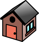 simple house clipart